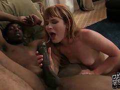 Bitchy Claire Robbins Starves For Black Man Cum 1